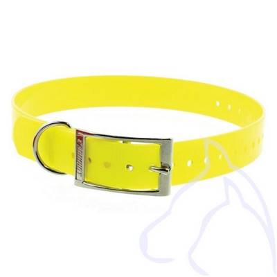 Collier PVC chiens Sangle 34-60 x 2.5 cm, jaune