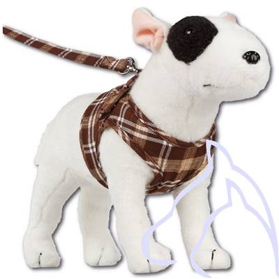 Harnais chiens Comfy Scottish XS 28-33 cm, écossais marron