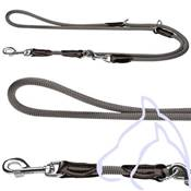 Laisse 3 positions chiens Nylon ronde Freestyle 200 x 0.8 cm, gris