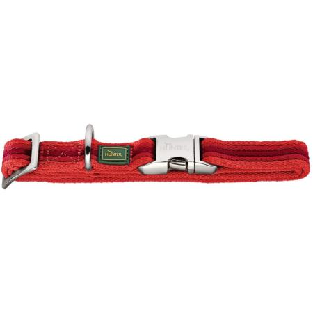 Collier Nylon chien Davao ALU-Strong L 45-65 x 2.5 cm, rouge