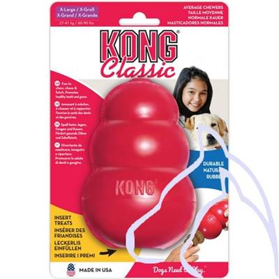 Jouets Chiens Kong TOY rouge Extra Grand