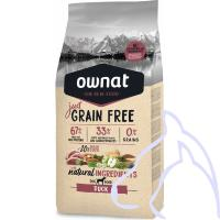 OWNAT Just Grain Free Canard, 14 kg